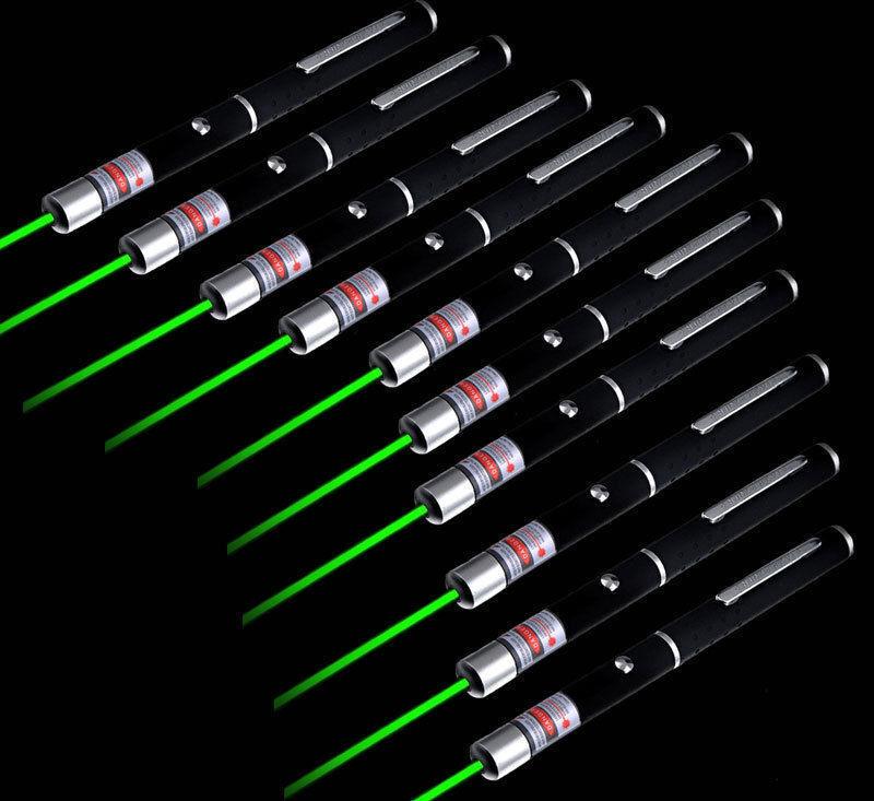 10pcs 5mw 532nm Lazer Visible Beam Light Powerful Green Laser Pointer Pen Power