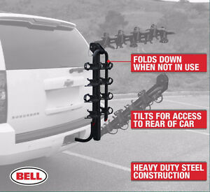 Bell Hitchbiker 450 4-Bike Hitch Rack with Stability NEW