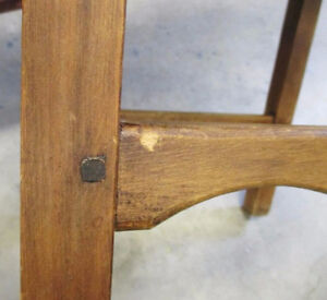 Vintage Pair of Leather Table Chairs Kitchener / Waterloo Kitchener Area image 5