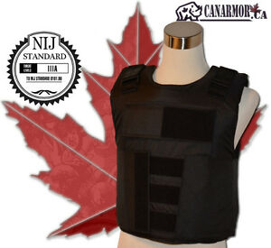 NIJ III-A stab and bulletproof body armour vest, Made in Canada