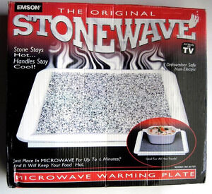 2 plaque granite réchaud  micro- ondes stone wave microwave
