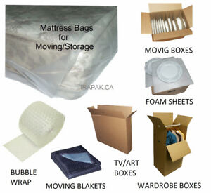 Mattress Bags, Furniture Poly Covers, Moving Boxes & Supplies