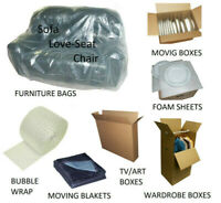 Moving and packing supplies (boxes, tape mattress cover ....)