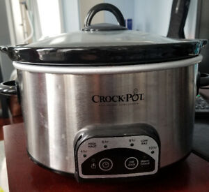 Crockpot (crock-pot) 4qt programmable oval - hardly used!