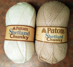 Patons Shetland Chunky bulky yarn in Aran & Biscuit colours