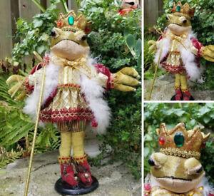 Vintage Frog Prince Christmas Figure decoration
