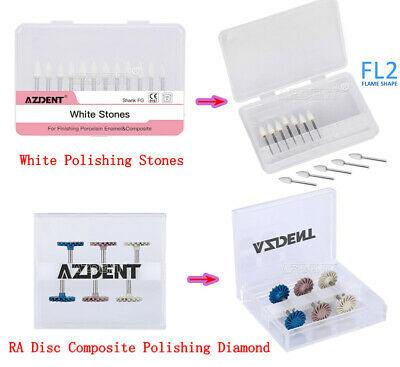 Dental White Polishing Stones Fg Fl2 Burscomposite Polishing Diamond Ra Disc
