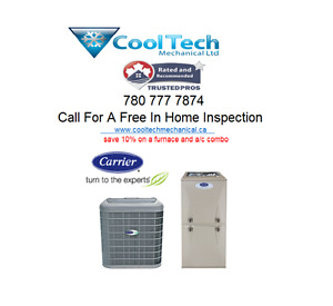 (CARRIER)AIR CONDITIONING FOR SALE  SAVE  1O% on a combo system