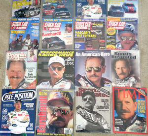 Dale Earnhardt R Petty Daytona  Lumina Stock Car Time Magazines