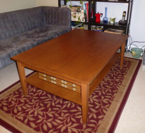Coffee Table — Large, Wooden, Inexpensive