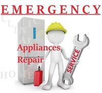 APPLIANCES REPAIR * EMERGENCY OVERNIGHT SERVICE