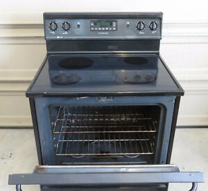 Maytag Flat Top Electric Stove - all black 30""