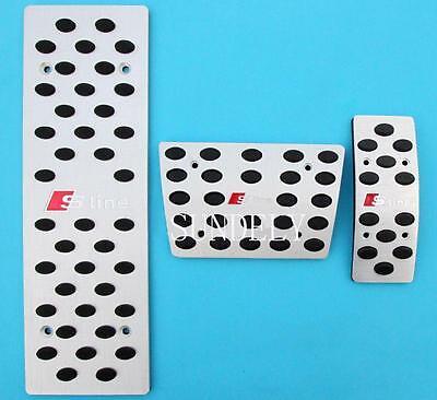 Aluminum AT Foot Pedals Rest Fit FOR Audi A4 B6//B7//B8 A5 A6 C5//C6//C7 A7 A8 Q5 US