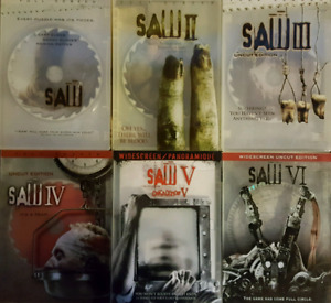 Saw 1-6 DVDs