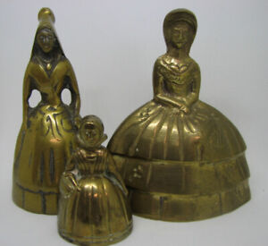 """3 Petites Cloche en Laiton / small  Brass Bell """" Southern Belle"""""""