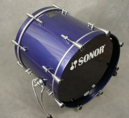 """SONOR DELITE 20"""" METALLIC MARINE BASS DRUM, MADE IN GERMANY"""