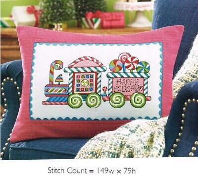 COLORFUL CANDY TRAIN CROSS STITCH PATTERN ONLY #964