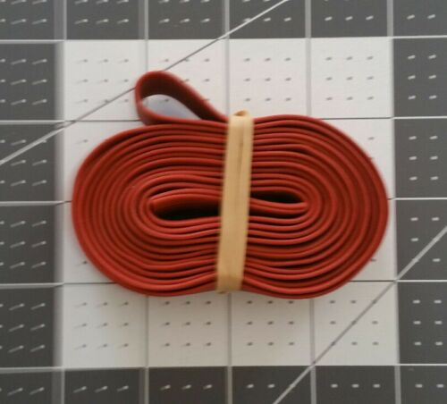 """Extra Large 40"""" X 3/4""""  Rubber Pallet Bands Red"""