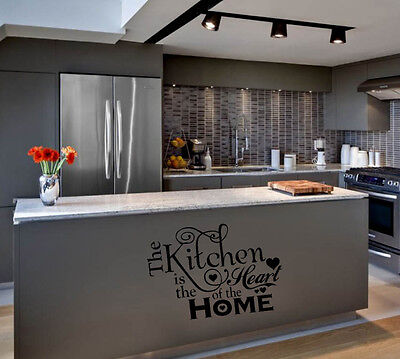 KITCHEN IS THE HEART OF THE HOME  WORDS HOME  VINYL DECOR DECAL WALL LETTERING on Rummage