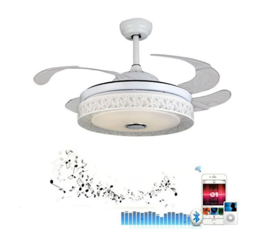 Bluetooth Remote Music Player Ceiling Fan Lamp Dimmable LED
