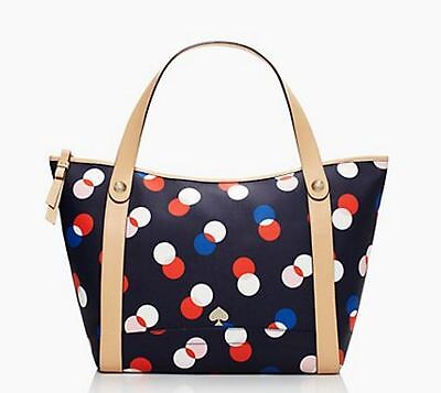 NWT Kate Spade Stanley Cobblestone Park Canvas Tote in Bluebell Multicolor