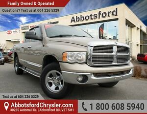 2005 Dodge Ram 1500 SLT/Laramie Low Kilometers, fully inspected!