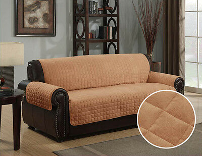 QUILTED MICRO SUEDE PET DOG COUCH SOFA ...