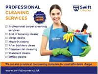 Domestic/ Office/ Commercial/ End of tenancy/ Carpet/ After builders/ Move-in deep cleaning services