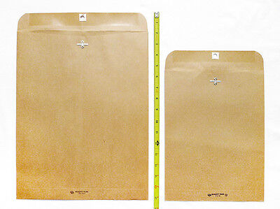 Lot Of 22 Kraft Brown Clasp Envelopes 9 X 12 12 X 15.5 Sizes Recycled Paper