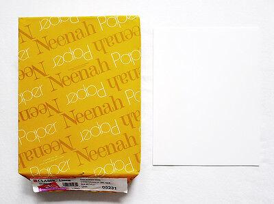 Classic Inkjet - 25 Sheets NEENAH CLASSIC LINEN Brilliant White 24LB 8.5 x 11 Laser Inkjet Paper