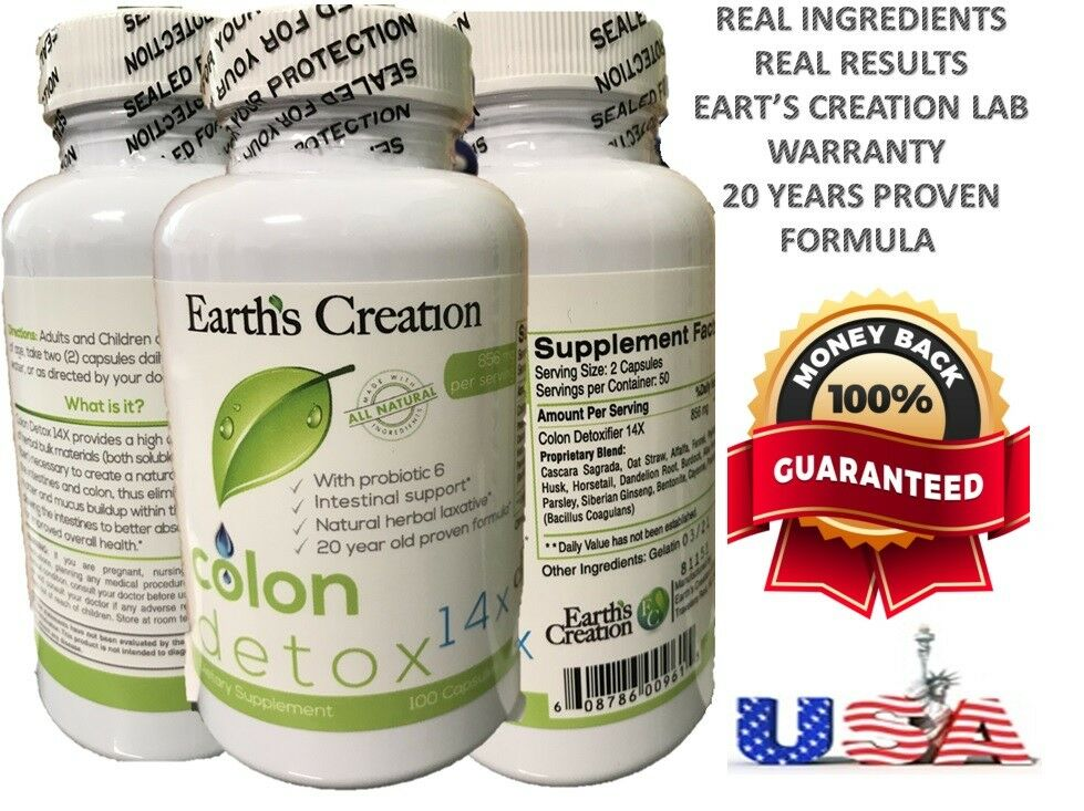 Super Detox Colon & Body Cleanse Maximum Strength Cleansing Diet Weight Loss Pil