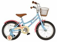 "(2623) 14"" 9"" DAWES LIL DUCHESS Girls Kids Childs Bike Bicycle + STABILISERS Age: 4-5, 98-112 cm"