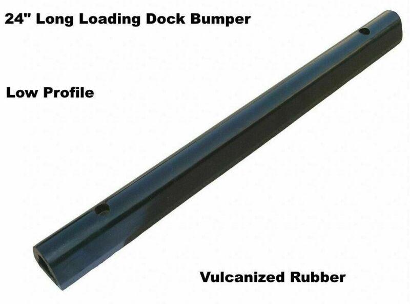 "LOADING DOCK BUMPER Low Profile 24"" Long Rubber Truck Dock Trailer Wall Protect"