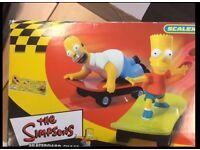 Vintage Simpson Scalextric Skateboard Chase