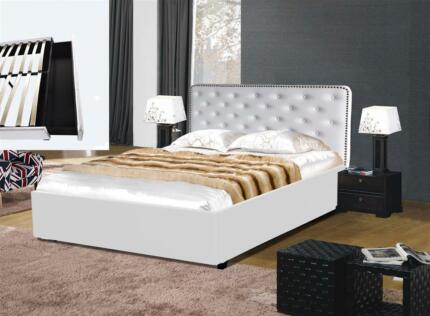 Brand New Queen Leather Bed With Large Storage Drawer