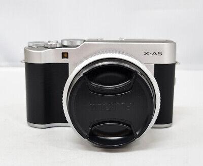 #Fujifilm Fuji Mirrorless Digital Camera X-A5  15-45mm Lens Kit Silver-(0055)