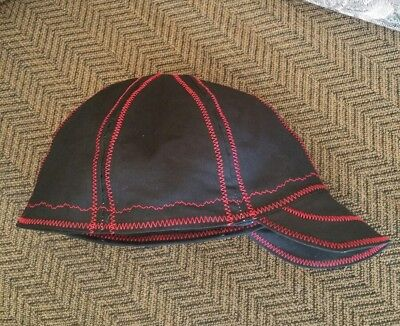 Wendys Welding Hat Made With Black And Red Stitching New