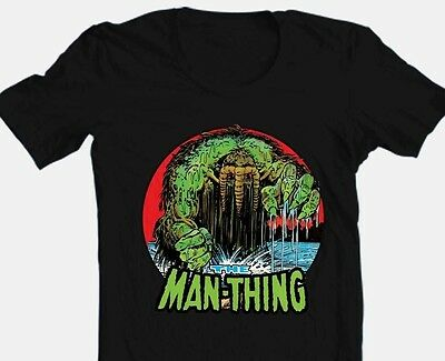 The Man-Thing T-shirt Black Bronze Age Comics comic book superhero cotton tee - Comic Book Superhero
