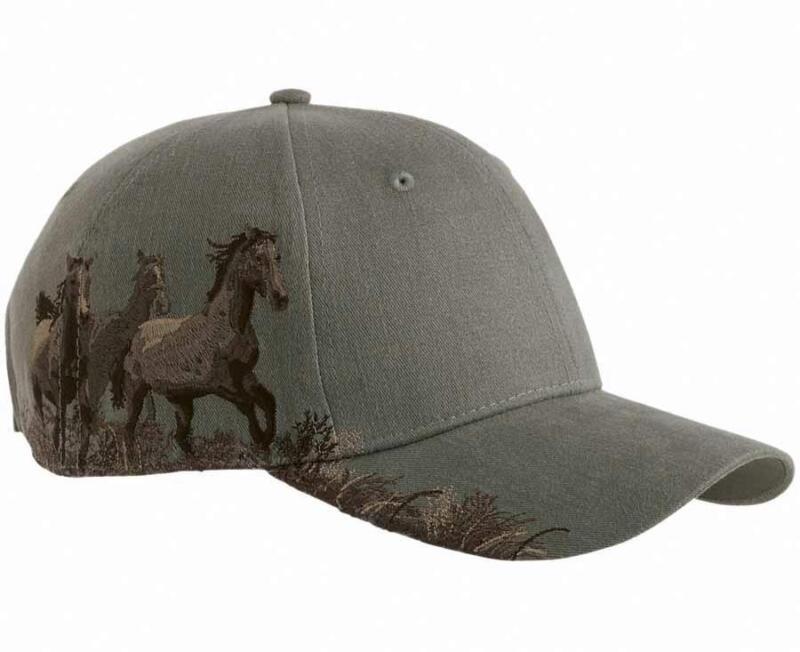 Dri Duck Mustangs Horses Western Baseball Hat Cap Earth Color  NEW