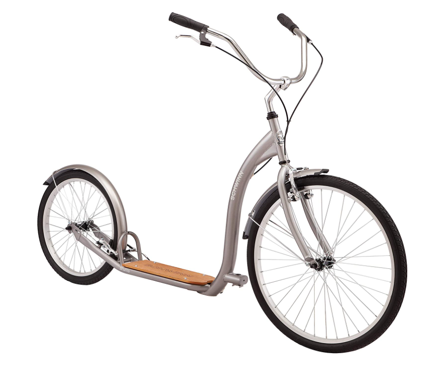 "Adult Kick Scooter Kick Bike 20/"" Wheels Black and Gray"
