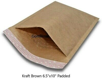 0 6.5x 10 Brown Kraft Bubble Envelopes Mailers Bags Padded Shipping