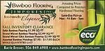 INVENTORY CLEARANCE BAMBOO FLOORING