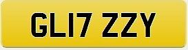 Private plate 17 reg. On certificate ready to transfer to vehicle registered after Mar '17 -GL17ZZY