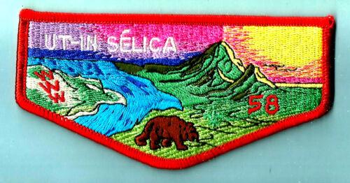 OA Lodge 58-s3a UT IN SELICA, Mt Diablo-Silverado Council Boy Scout flap CA