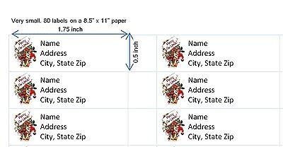 80 Return Address Labels Christmas Buy 3 get 1 free (c1)
