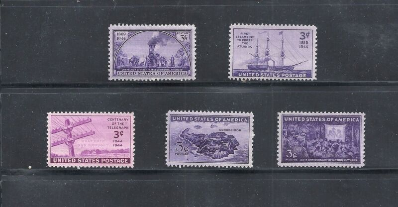 1944 - Commemorative Year Set - US Mint Stamps - b