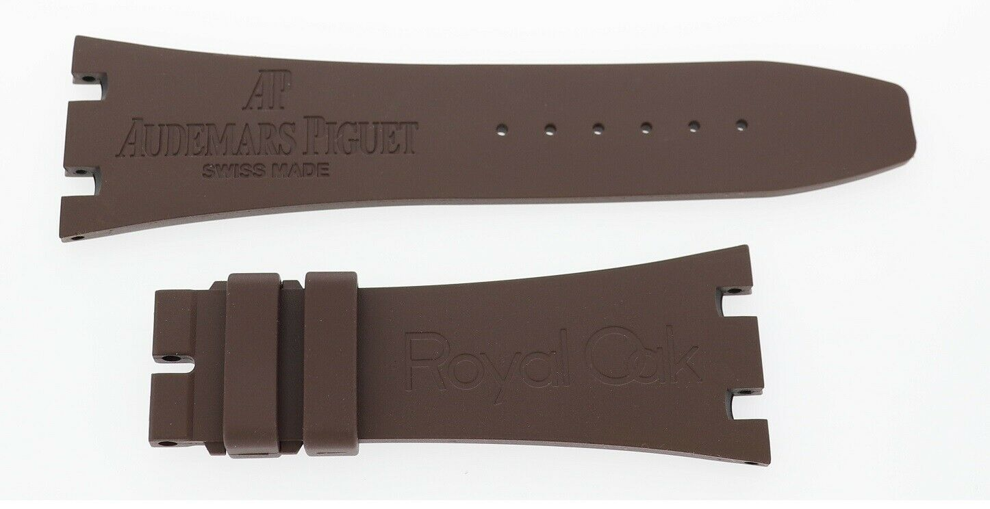 AUDEMARS PIGUET ROYAL OAK OFFSHORE Rubber Uhrenarmband 26mm X 18mm Braun