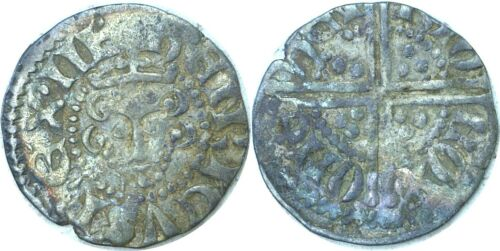 1216-1272 England Henry III Silver Penny Long Cross Henri Oxford