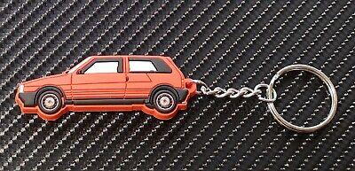 Fiat Uno Ie Turbo Coche Llavero - Rojo