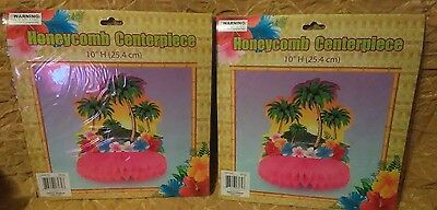 Island Party Honeycomb Centerpiece Decorations-Set of 2